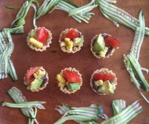 """Bento-Friendly"" Black Bean, Corn & Avocado Bites w/ Molé — The Recipe ReDux"