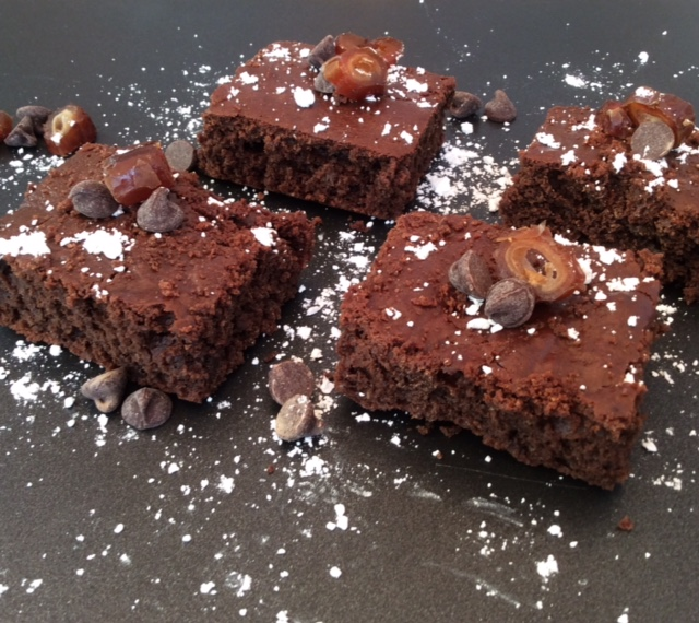 Brownies aquafaba on tray