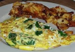 spinach feta omelet with home fries 2