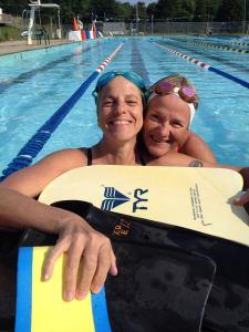 100 x 100 swim with linda hugs!