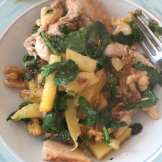 ready to eat chicken potato skillet with greens