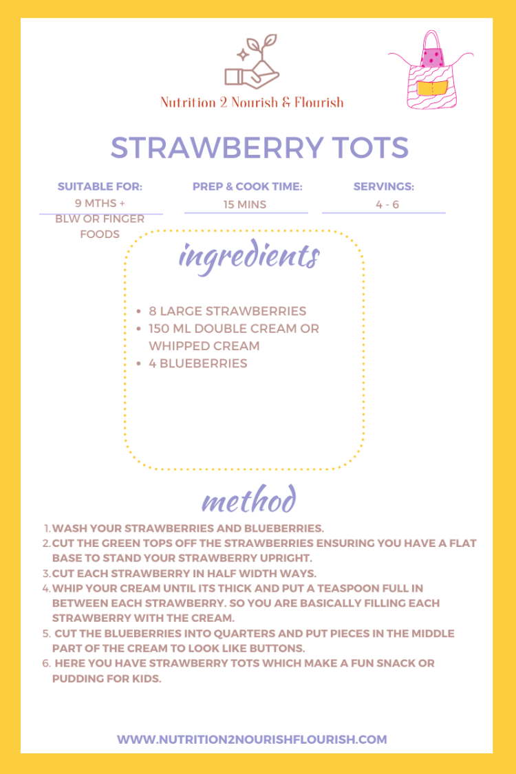 This is a recipe for strawberry tots
