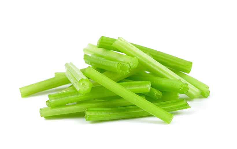 Fresh Green Celery Stalks Ready For Cooking Or Eating.