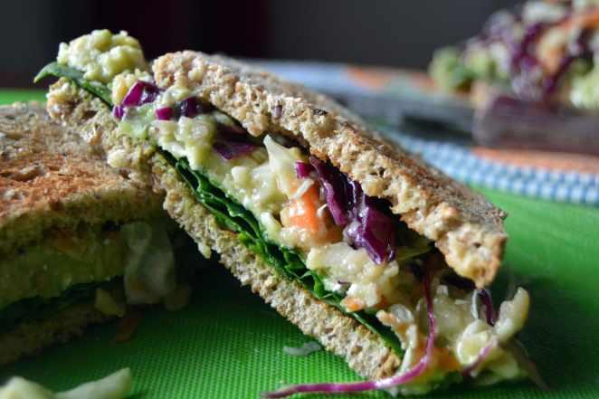 Half Chickpea Sandwich
