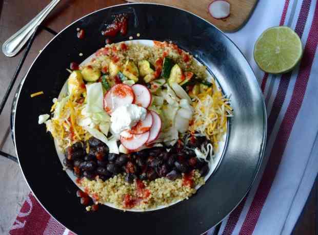 Spicy Mexican Quinoa Burrito Bowl