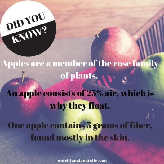 Apples are a member of the rose family of plants. (1)