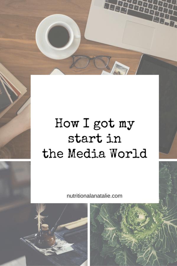 How one Dietitian got her start in the media world