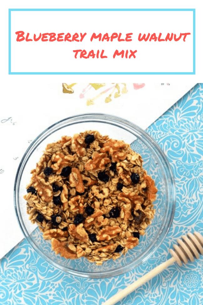 Healthier trail mix recipe: blueberry maple walnut trail mix