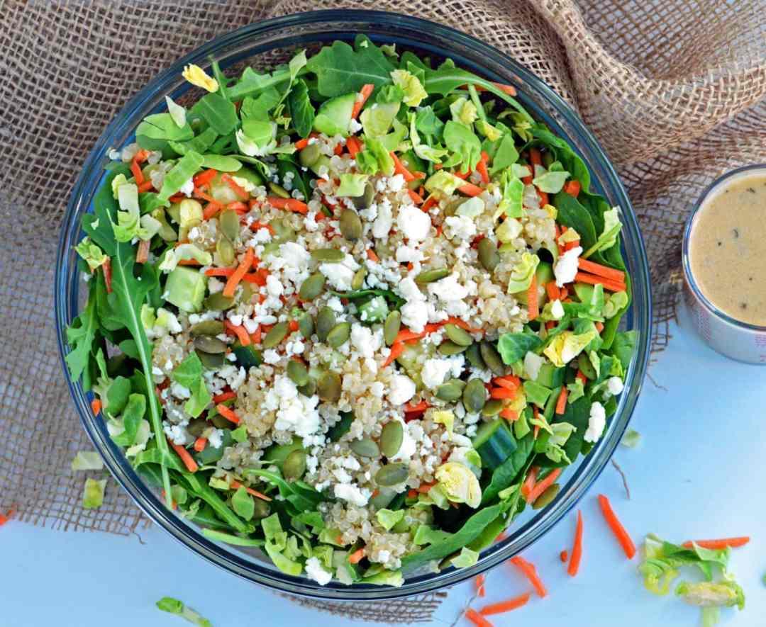 Green Crunch Power Salad--vegetarian and healthy salad