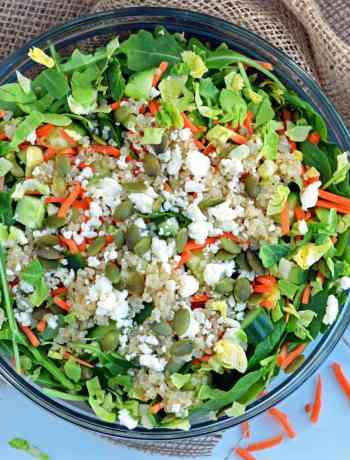 Green Crunch Power Salad--vegetarian and healthy salad