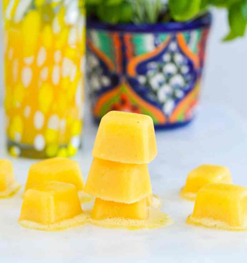 recipe for frozen banana and orange ice cubes
