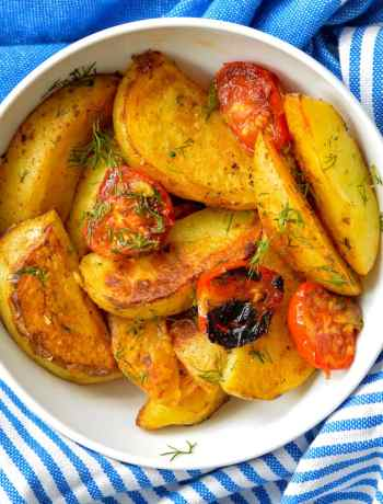 recipe for dill roasted potato wedges