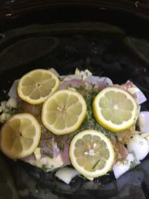 Crockpot Lemon Garlic Chicken