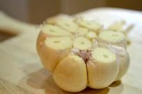 Cut Half-inch Top Garlic for Roasting