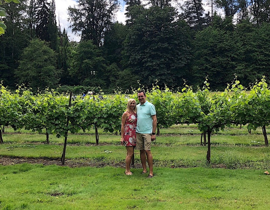 Mike and me at Chateau Ste. Michelle winery, Seattle, WA