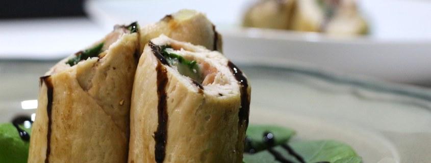 ballotines de poulet épinard et jambon cru