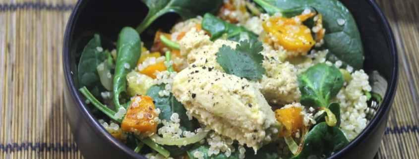 salade de courge quinoa et houmous