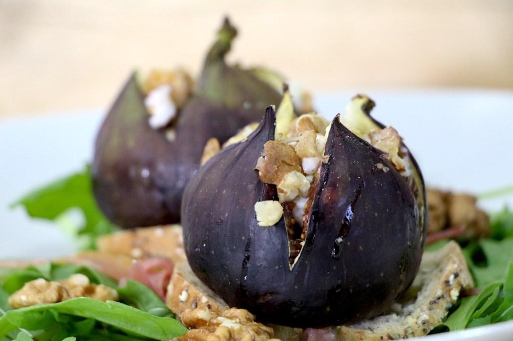 salade de figues rôties au chèvre
