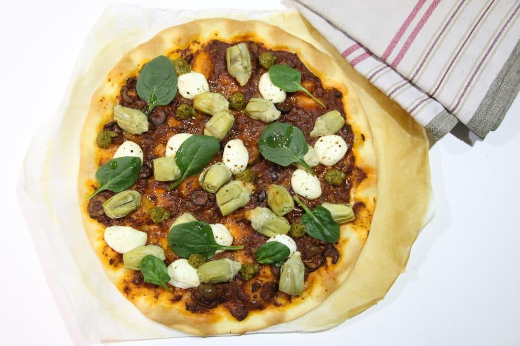tarte fine artichaut mozzarella