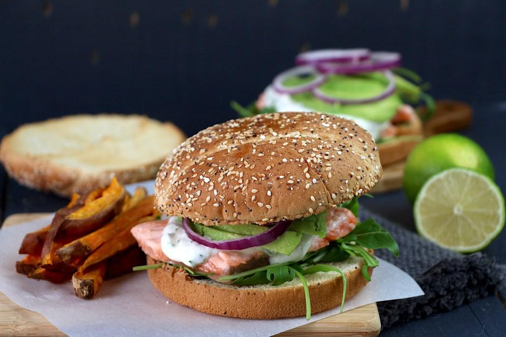 burger saumon frais avocat