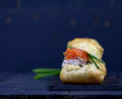choux au saumon fumé et fromage