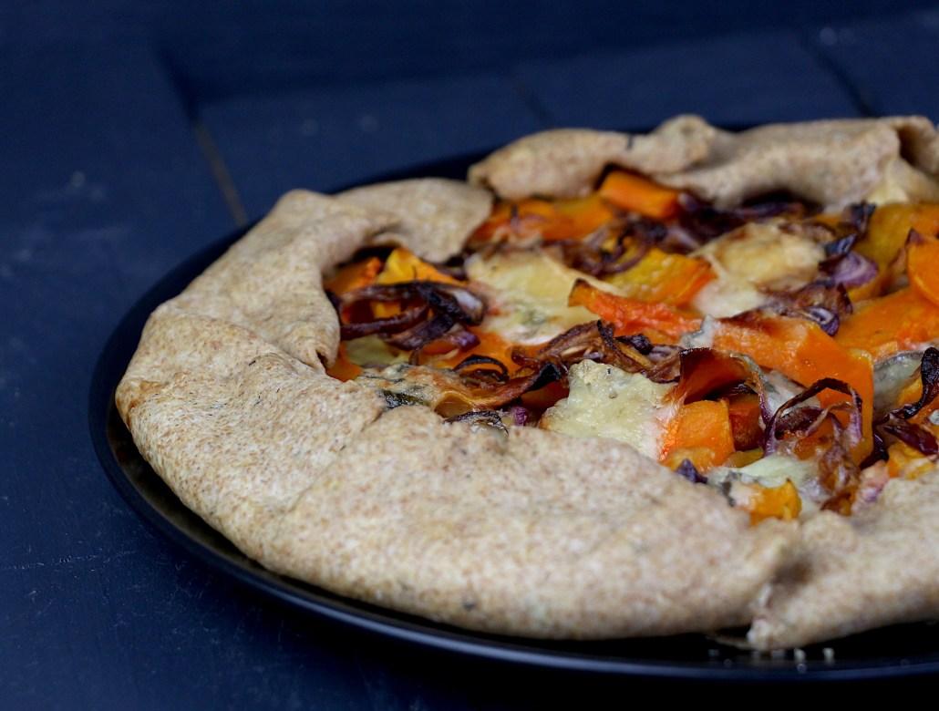 tarte rustique courge et gorgonzola