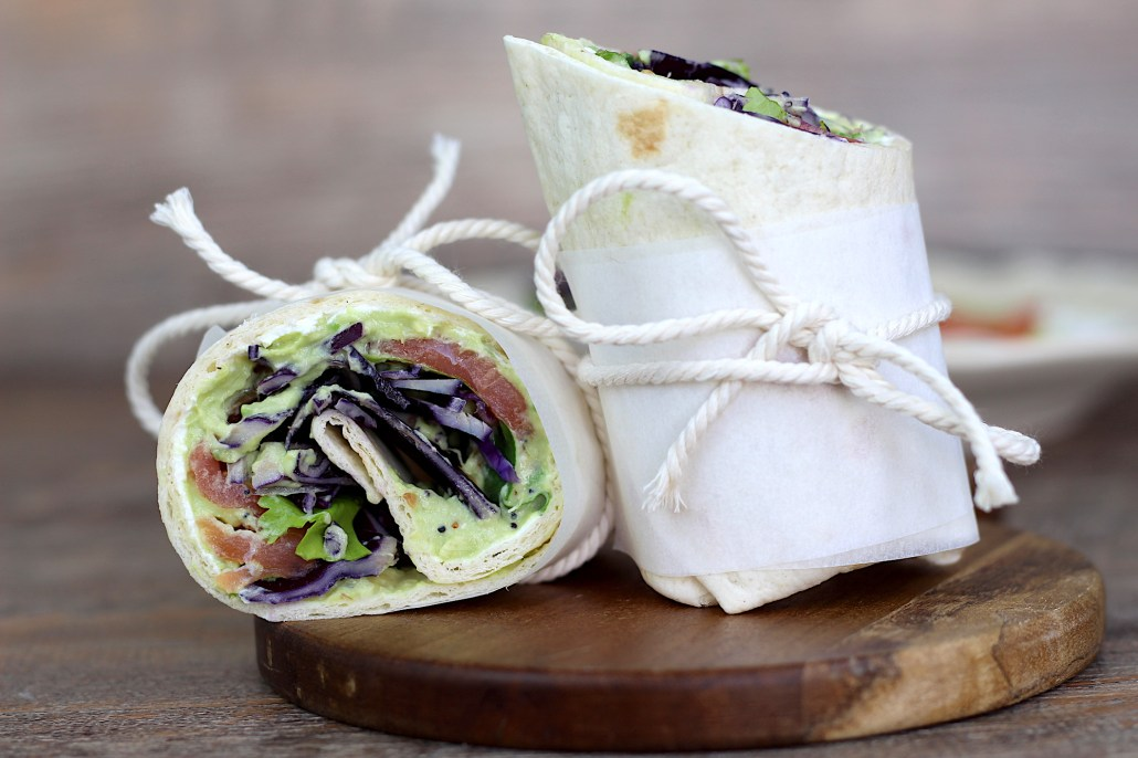 wraps avocat saumon fumé