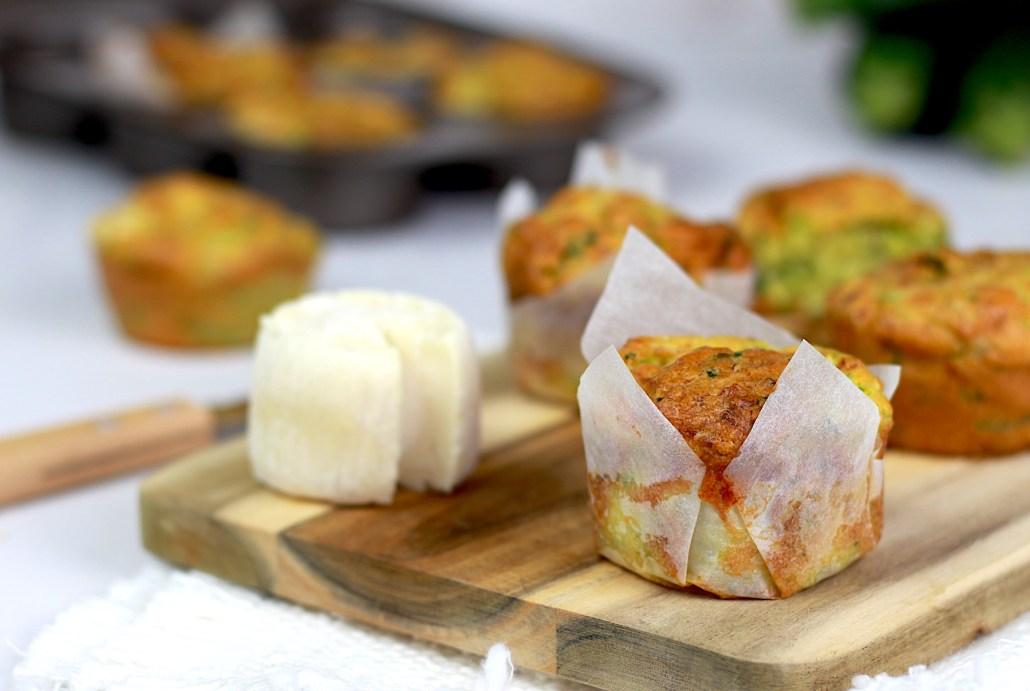 petits muffins salés légumes