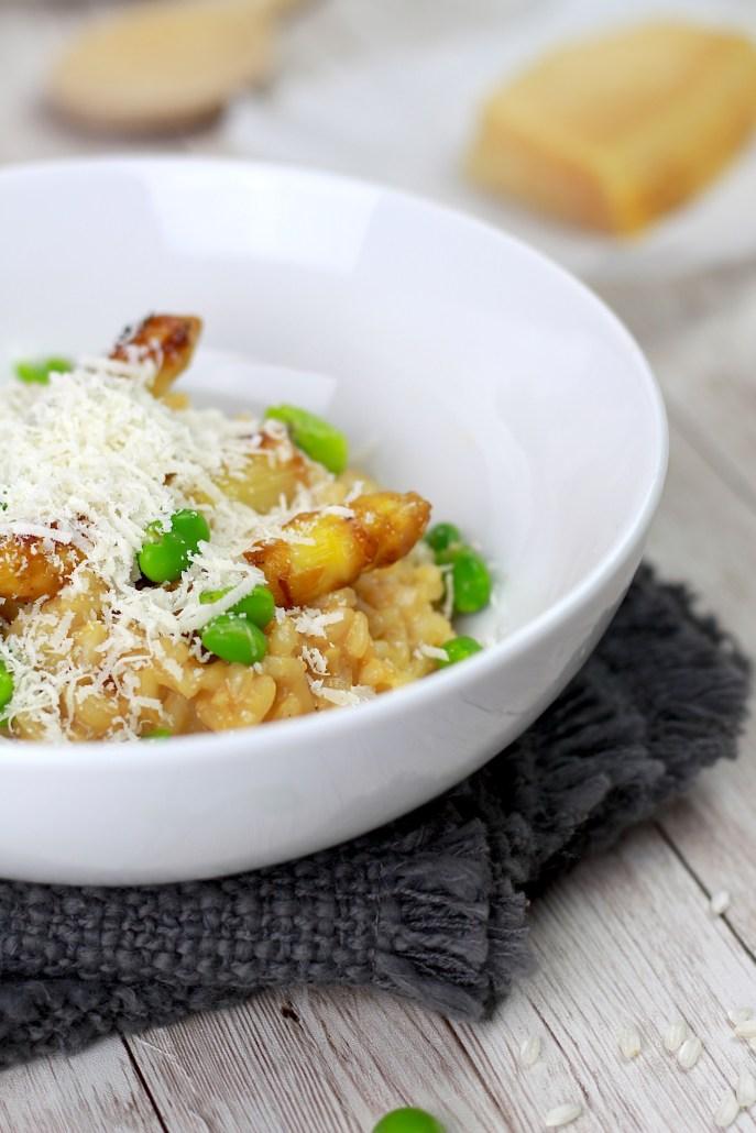 risotto crémeux aux asperges blanches