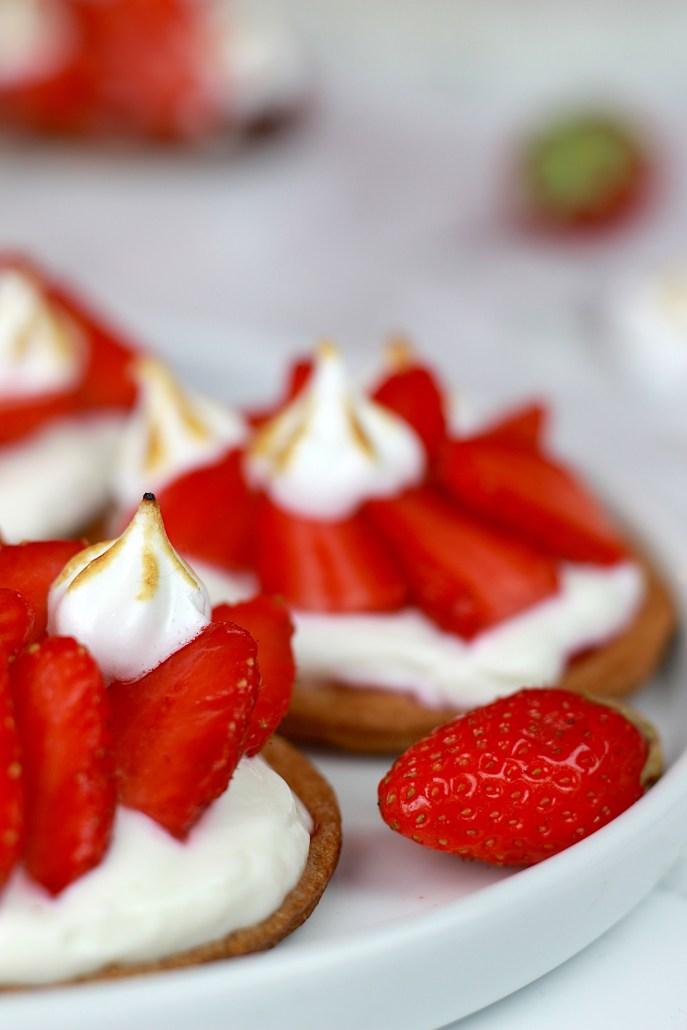 tarte aux fraises et yaourt