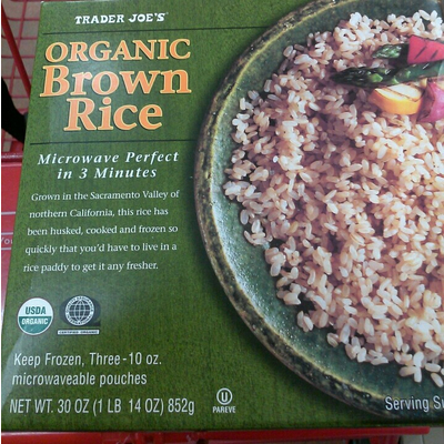 calories in organic brown rice from