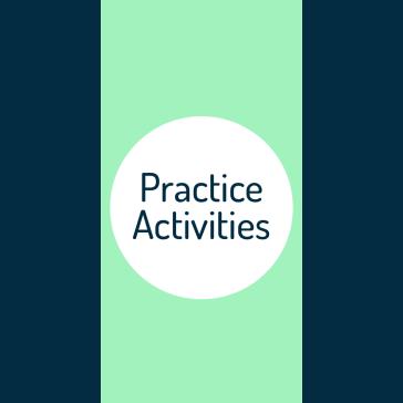 practice activities graphic