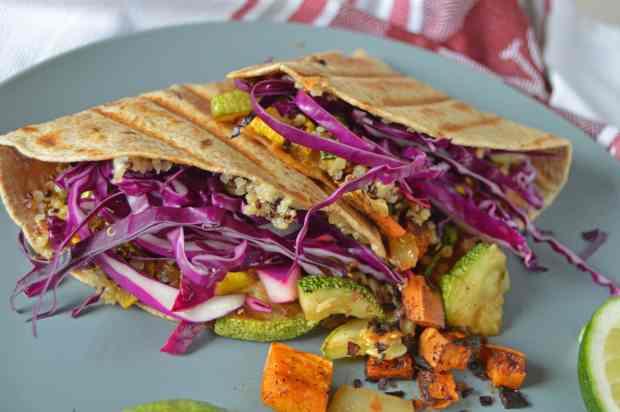 Veggie Quesadilla close up