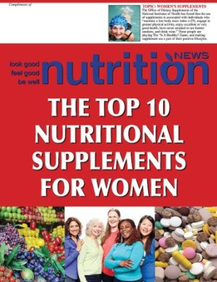 Nutrition News Top 10 Women's Supplements cover i mage