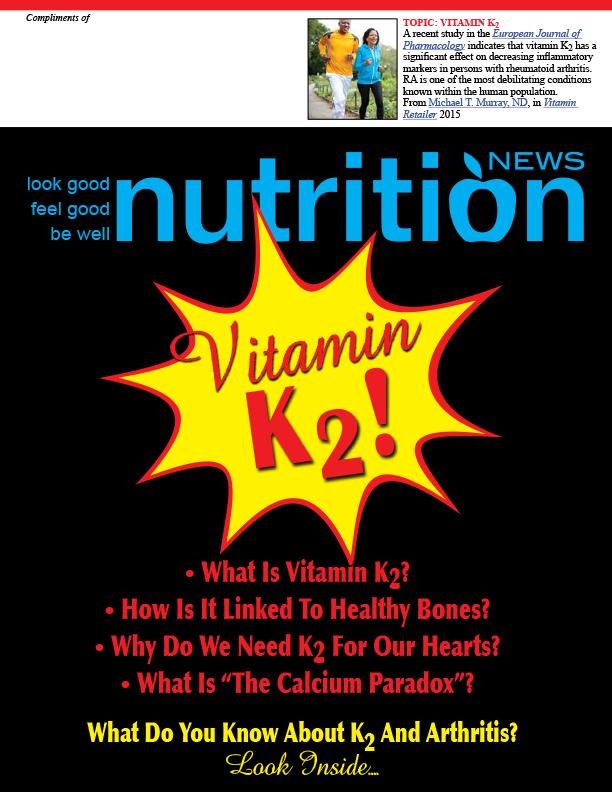 Nutrition News Vitamin K2 Cover