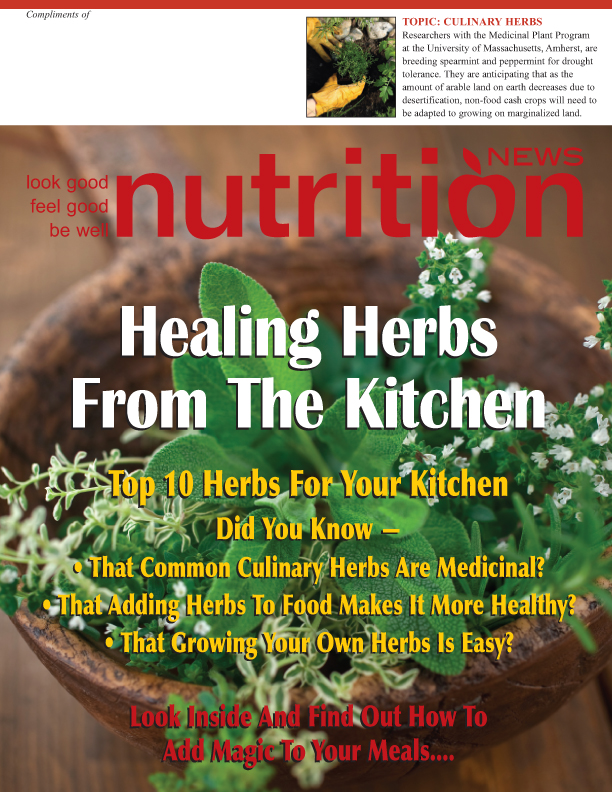 Nutrition News Culinary Herbs cover image