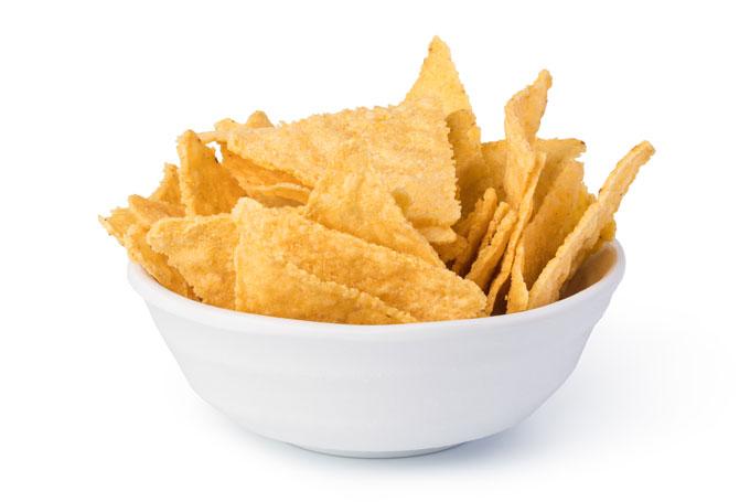 homemade corn chips - raw, vegan