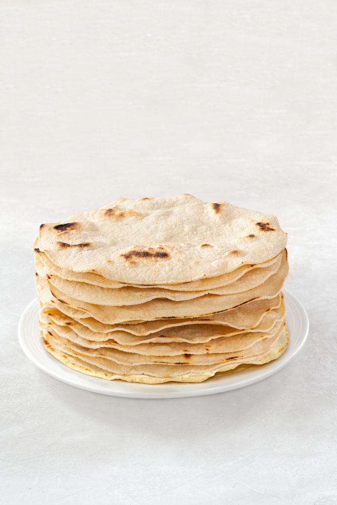 corn tortillas from masa harina