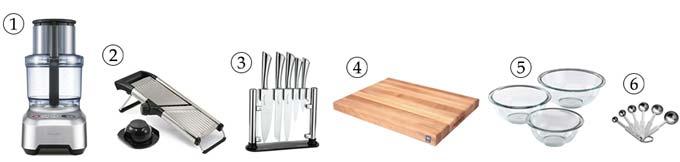 kitchen tools for cucumber zucchini salad