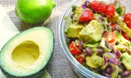 Avocado, Black Bean Tomato Salad
