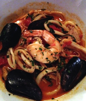 Mama Melrose's Whole Grain Seafood Arrabbiata