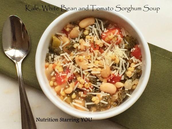 Kale, White Bean, Tomato Sorghum Soup