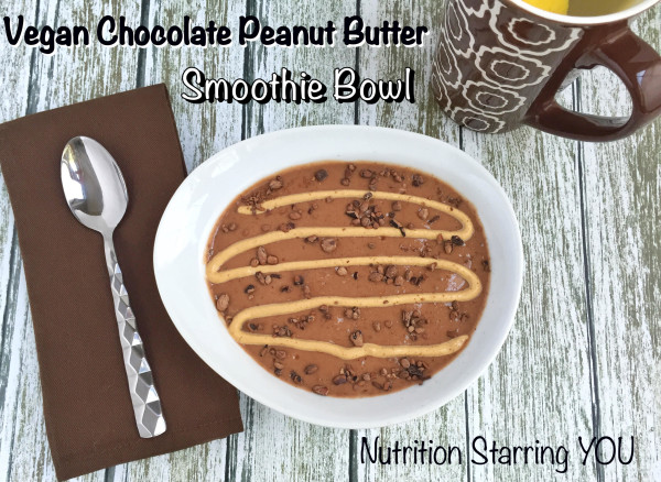 Vegan Chocolate Peanut Butter Smoothie Bowl