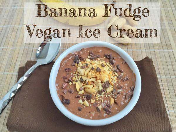 Banana Fudge Vegan Tofu Ice Cream