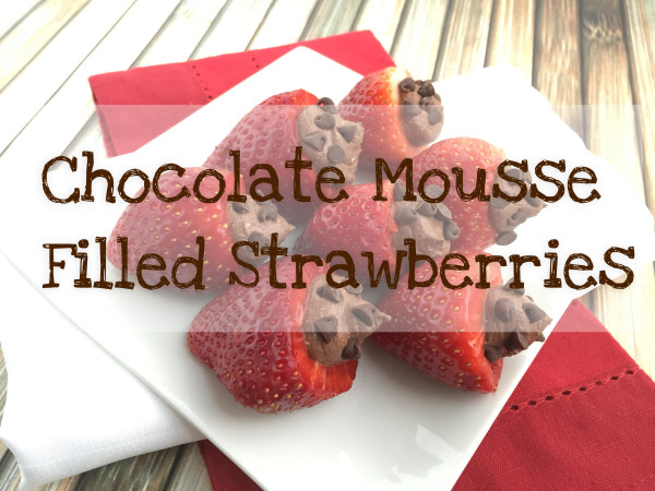 Chocolate Mousse Filled Strawberries gluten free sugar free vegan