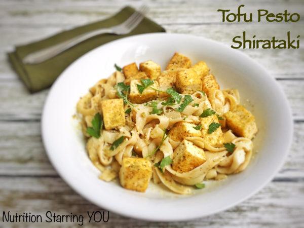 Tofu Pesto Shirataki noodles