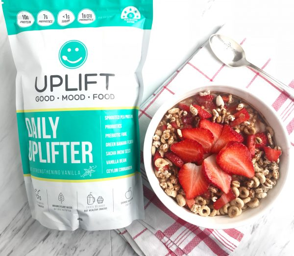 Protein-Packed Chocolate Cereal Bowl with Uplift Foods Daily Uplifter