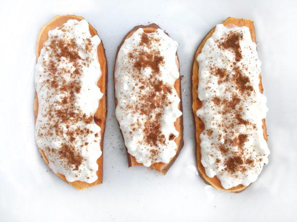 Cottage Cheese Sweet Potato Toast
