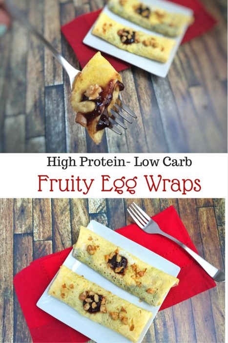 Fruity Egg Wraps with Toasted Walnuts