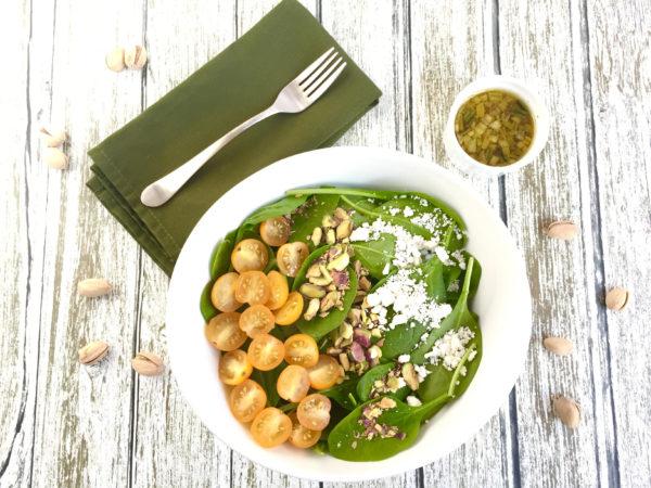 Spinach Salad with Warm Orange Vinaigrette